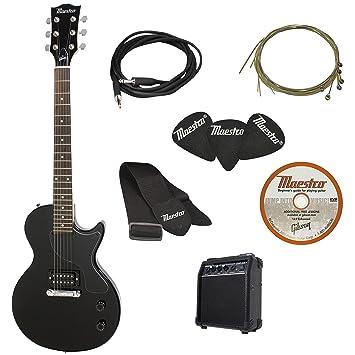 Maestro por Gibson Single Cutaway Guitarra eléctrica Starter Pack, madera de cerezo: Amazon.es: Instrumentos musicales