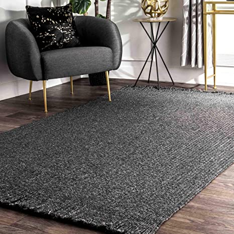 Amazon Com Nuloom Courtney Braided Indoor Outdoor Accent Rug 2 X 3 Charcoal Furniture Decor