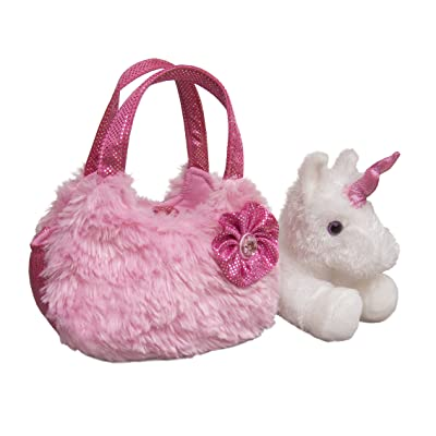 "Aurora - Pet Carrier - 7"" Plush Pink Pet Carrier: Toys & Games"