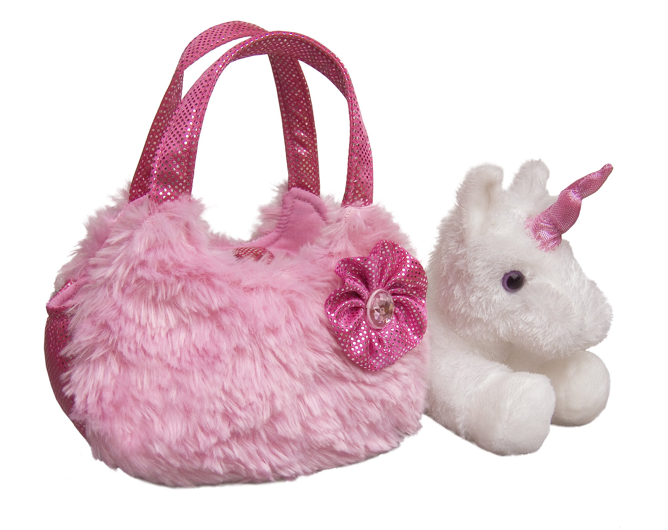 Aurora World Fancy Pals Plush Pink Pet Carrier