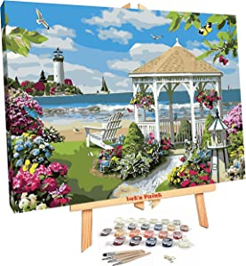 DIY Paint by Number for Adults Framed with Easel - Number Painting Kit 16