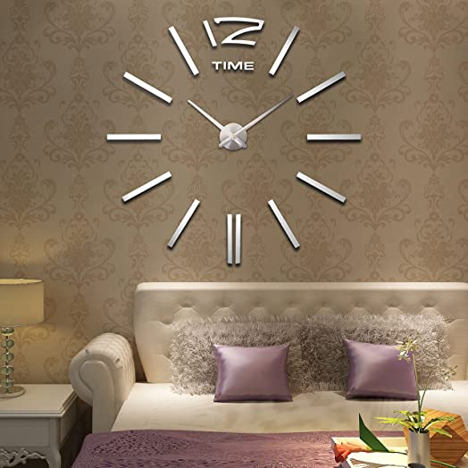 HIE Hot Sale Extra Large Wall Clocks Roman Numeral Clock Home Decorative DIY Frameless