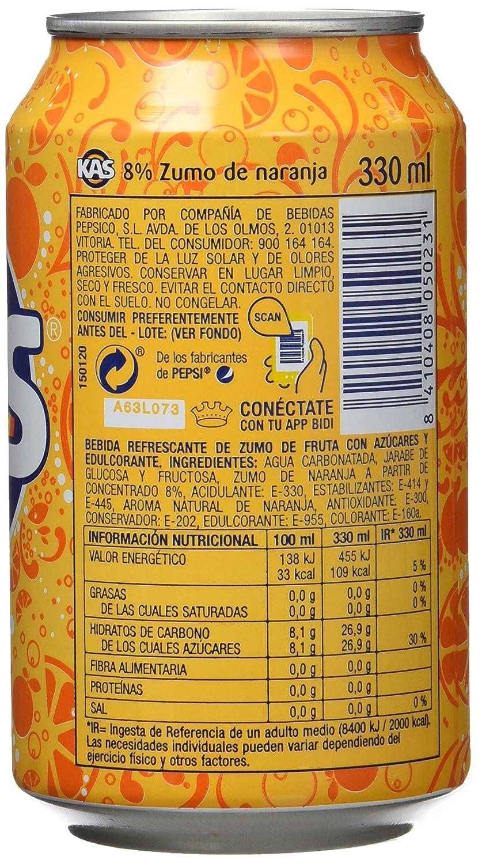Kas refresco de Zumo de Naranja - Pack de 9 x 33 cl - Total: 2970 ml: Amazon.es: Amazon Pantry