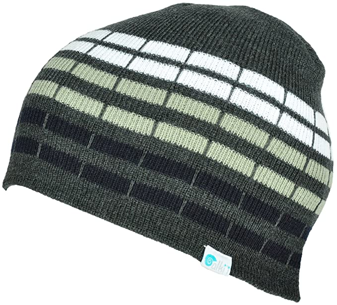 12b8f31bc0d Image Unavailable. Image not available for. Colour  Alki i cube mens womens  warm beanie snowboarding winter hats - Grey