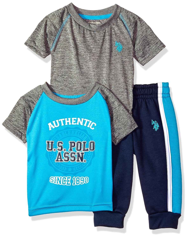 Amazon.com: u.s. polo assn. Bebé Niños playera y pantalones ...