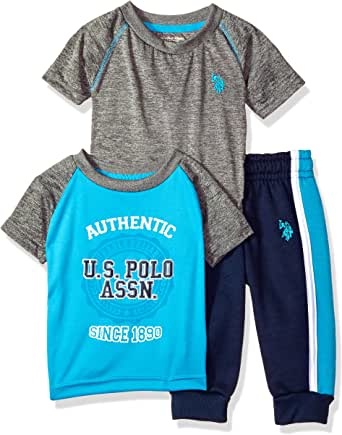 U.S. POLO ASSN. Baby Boy's T-Shirt and Pant 3 Piece Set Pants