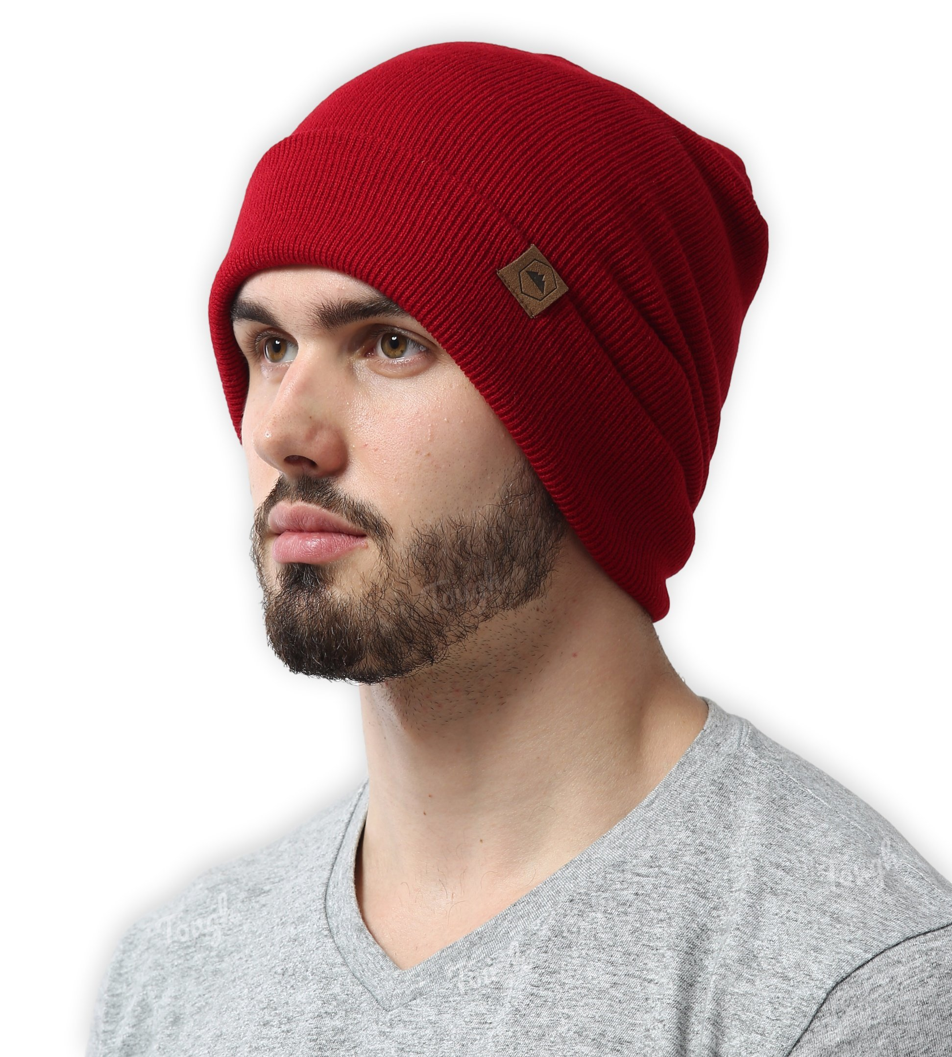 Tough Headwear Cuff Beanie Watch Cap - Warm, Stretchy & Soft Knit Hats for Men & Women - Serious Beanies for Serious Style