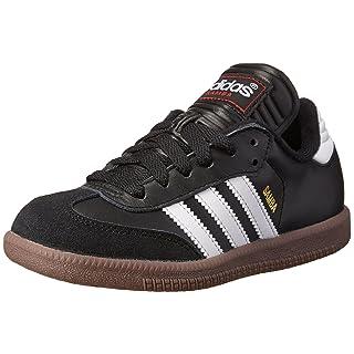 adidas Kids Unisex's Samba Classic Boots Soccer Shoe, White/Black/White, 11 M US Little Kid