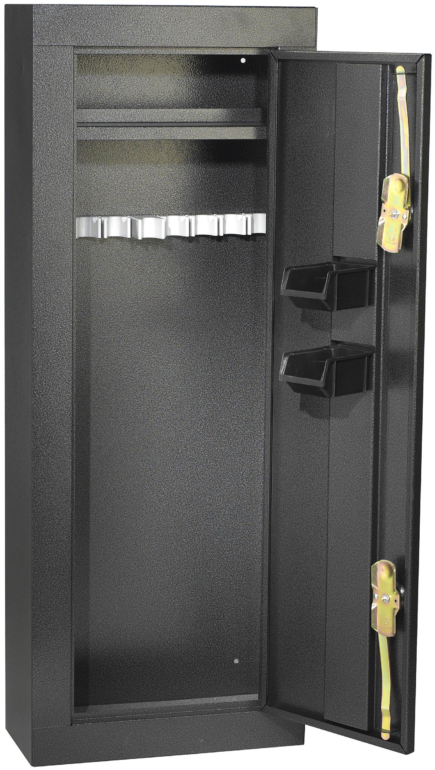 First Watch / Homak 8-Gun Security Cabinet, Gloss Black, HS30103660