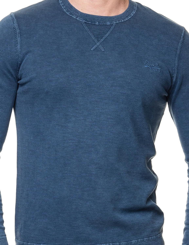 Blu Superdry Uomo Felpa LA di Garment Dye