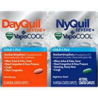 48-Pack Vicks DayQuil and NyQuil Severe Cough Flu Relief LiquiCaps