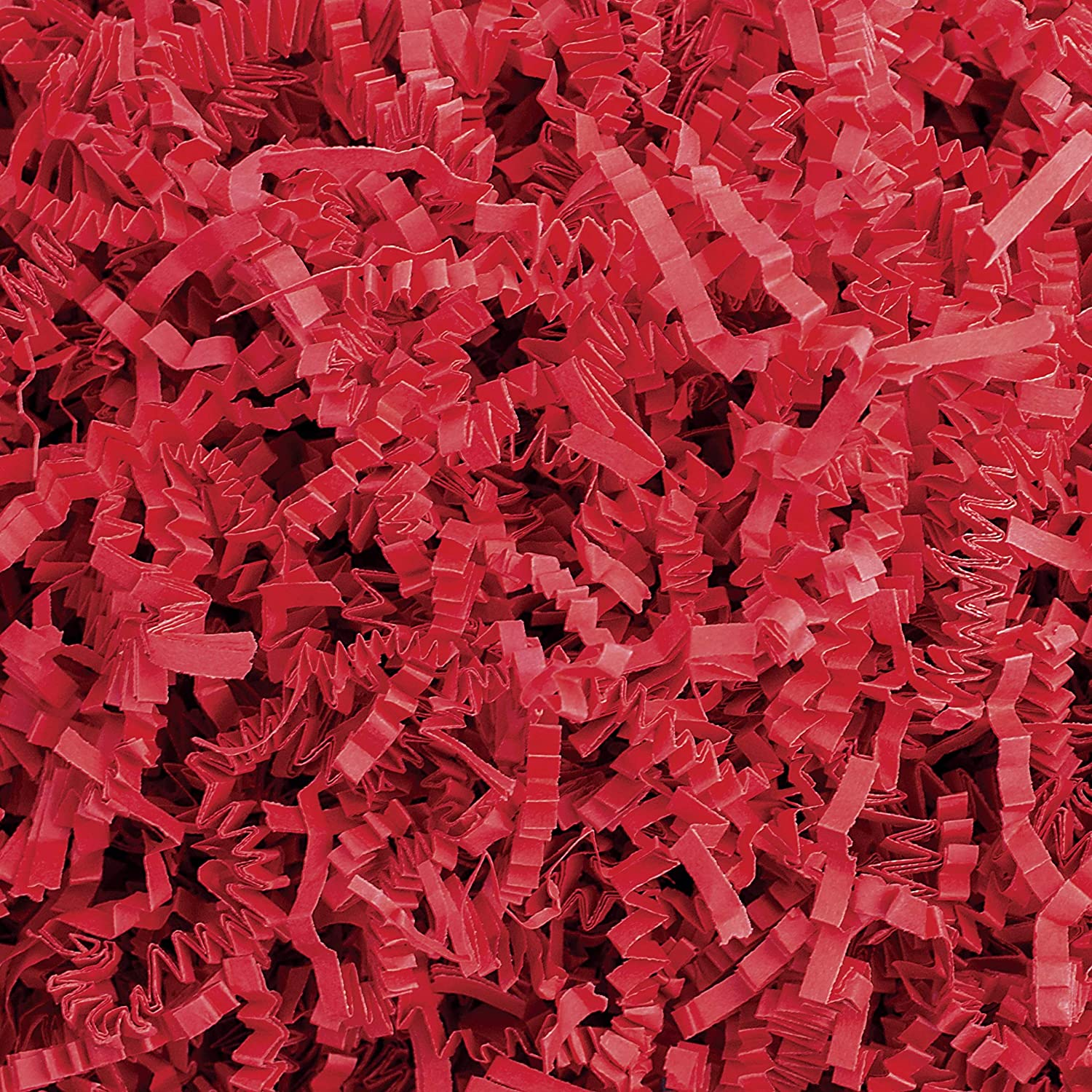Crinkle Cut Paper Shred Filler (1 LB) for Gift Wrapping & Basket Filling - Red | MagicWater Supply: Everything Else