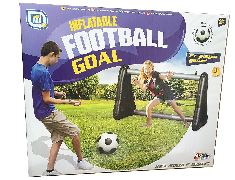 Portería hinchable para fútbol y agua Incluye Red, 107 x 75 x 50 ...