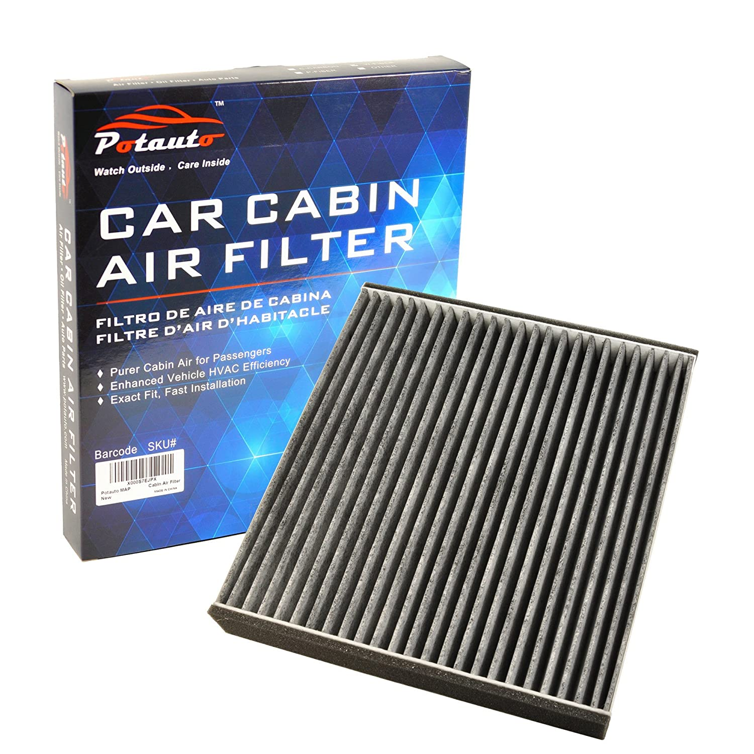 Amazon.com: POTAUTO MAP 1016C Heavy Activated Carbon Car Cabin Air Filter  Replacement compatible with LEXUS, GS300, GS430, LS430, SC430 (Upgraded  with ...
