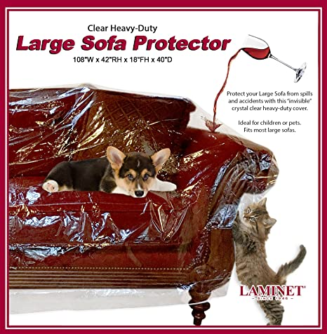 Delightful LAMINET Crystal Clear Furniture Protectors   Slipcovers U0026 Elastic Covers  (Large Sofa, Furniture Protector