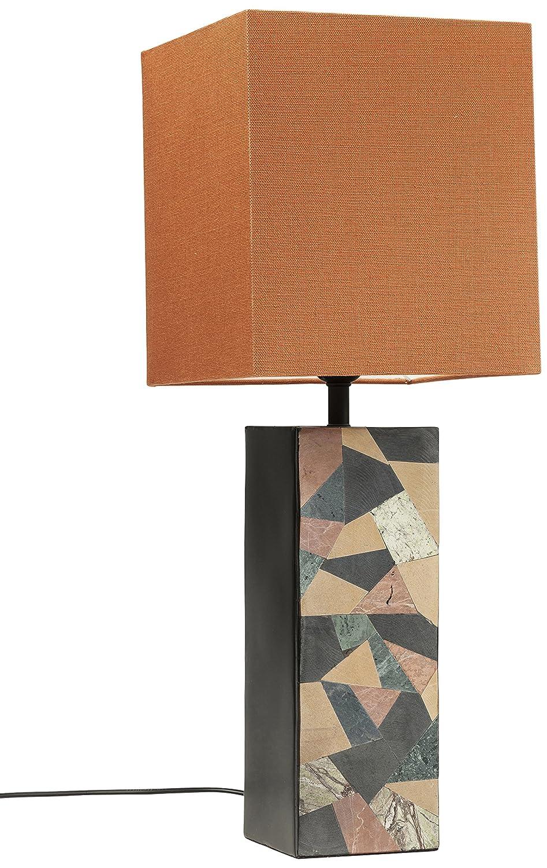 Kare Lámpara de mesa naranja 22 x 22 x 58 cm