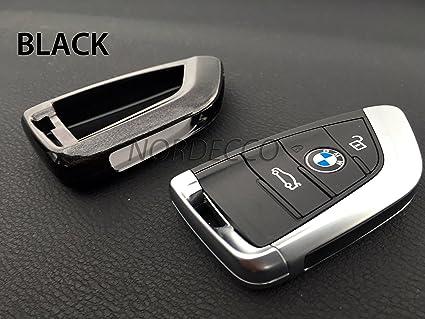 ABS carcasa protectora de plástico duro brillante funda para 3 4 botón inteligente llavero BMW 2 serie X1 X5 X6 F15 F22 F45 F46 nuevo BMW 7 Series ...