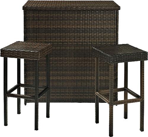 Crosley Furniture 3-Piece Palm Harbor Outdoor Wicker Set