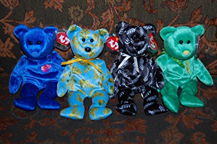 ba813cdd70e Image Unavailable. Image not available for. Color  (4) Ty Beanie Baby Asian-Pacific  Bears ...
