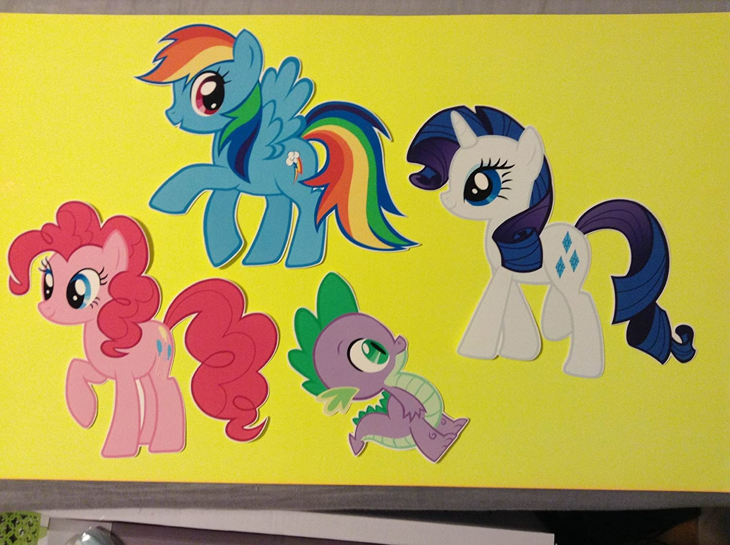 My Little Pony Friendship Is Magic Set of 7 Removable Wall Stickers ...
