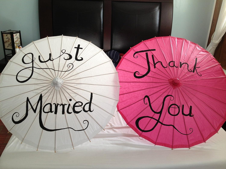 Amazon Wedding Thank You Parasol Umbrella Paper Hand Painted Photo Prop Everything Else