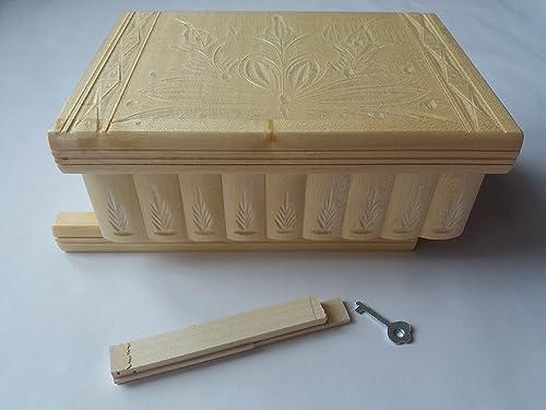 Caja puzzle grande enorme del rompecabezas de la caja natural, caja secreta, caja mágica, caja de joyería de almacenaje de madera caja tallada de la sorpresa, juguete de madera para los cabritos: