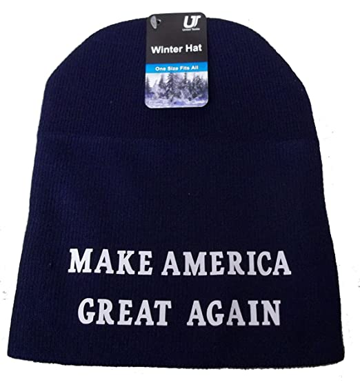 99ddb57b47d MAGA Make America Great Again Winter Beanie Hat Riding Skull Cap Donald  Trump (Blue) at Amazon Women s Clothing store