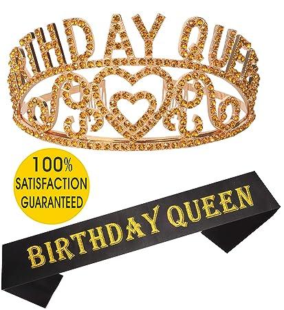 Birthday Girl Sash And Tiara Gold
