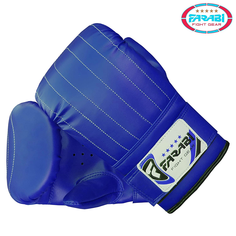 Boxing punch bag mitt gloves punching boxing gloves mma training gloves Blue, Large
