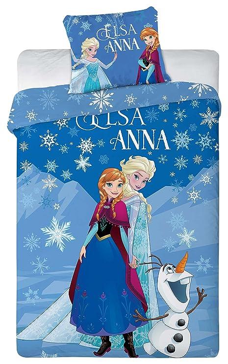 63 x 63 cm Anna y Elsa AYMAX S.P.R.L Ropa de cama infantil de Frozen 140 x 200 cm
