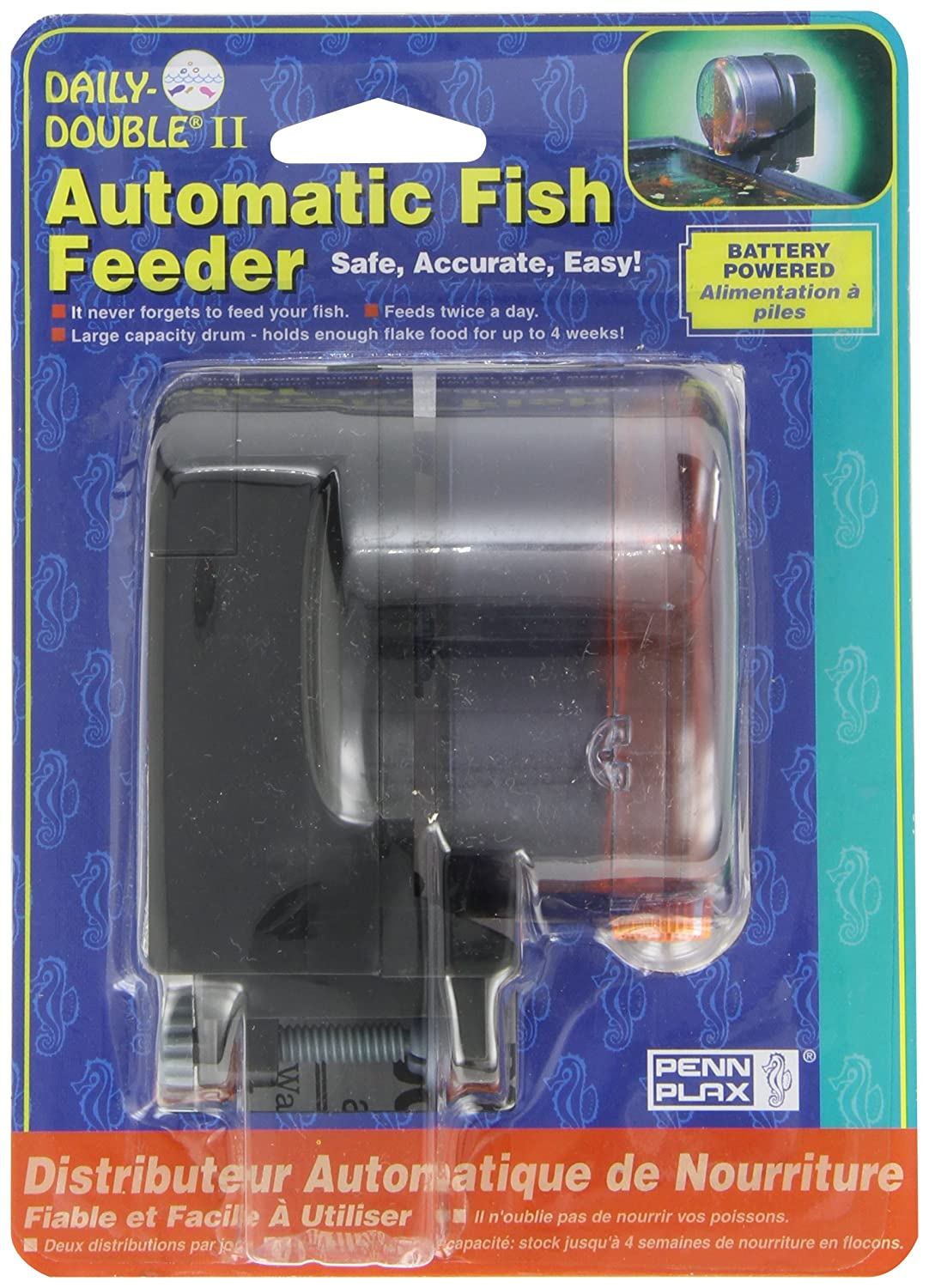 B0002565NO Penn-Plax Daily Double II Battery-Operated Automatic Fish Feeder 91v5YilPuOL