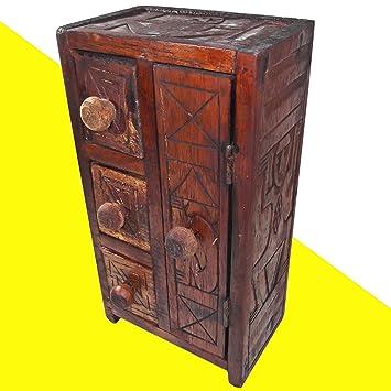 Aufbewahrungsbox Aus Holz Ethno Deko Mobel Schubladen Tur Schlussel