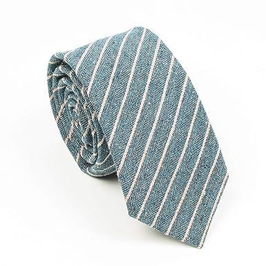 TUXUAN Corbata para hombre, diseño de rayas, color azul, rosa ...