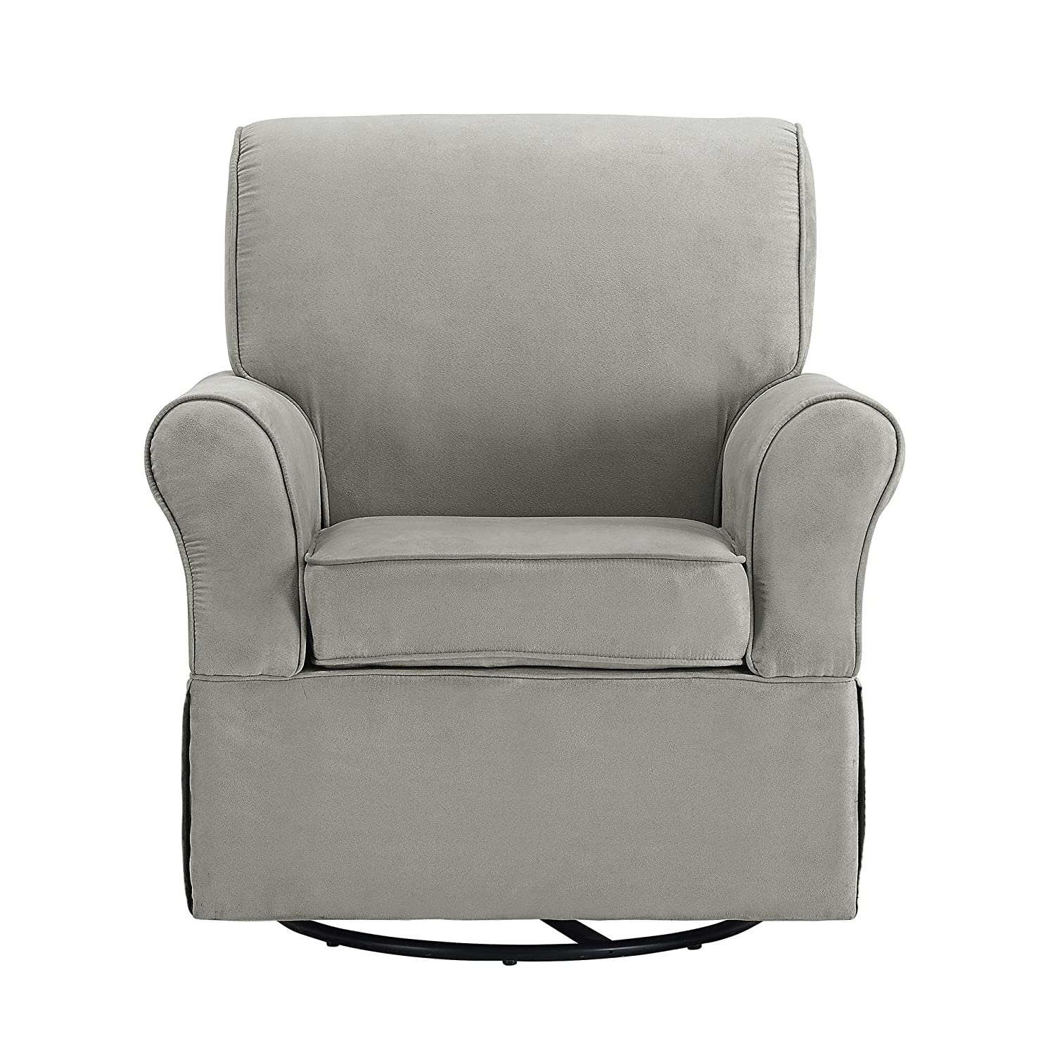 Amazon.com: Baby Relax The Kelcie Nursery Swivel Glider Chair And Ottoman  Set, Grey: Baby