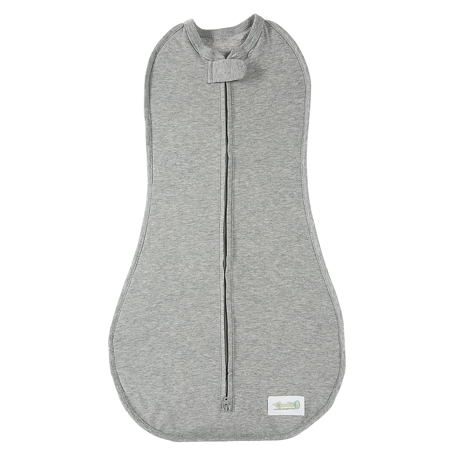 Woombie Original Nursery Swaddling Blanket for Babies up to 3 Months Twilight//Heathered Gray, 5-13 lbs