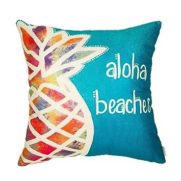 Fahrendom Aloha Beaches - Funda de cojín decorativa para ...
