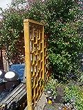 Handmade pre-assembled wooden 1200mm x 600mm oak stained Pottyplanters wooden trellis