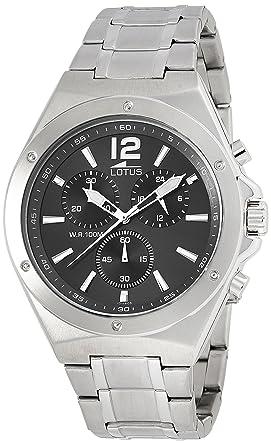 Lotus Reloj Cronógrafo para Hombre de Cuarzo con Correa en Acero Inoxidable 10118/6: Amazon.es: Relojes