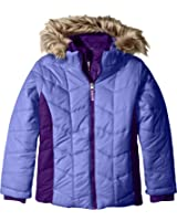 Free Country Little Girls' Puffer Coat with Vestee
