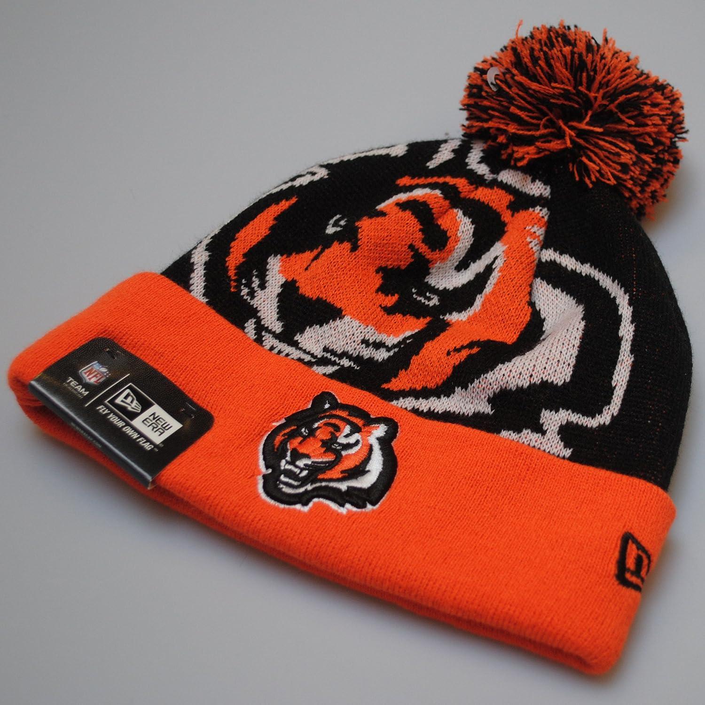 ... reduced new era cincinnati bengals black orange beanie bobble pom pom  hat amazon clothing 186c9 17dd7 1362b002f
