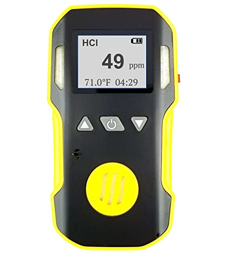 FORENSICS Medidor de cloruro de hidrógeno Hcl | Alarmas de vibración, luz y sonido |