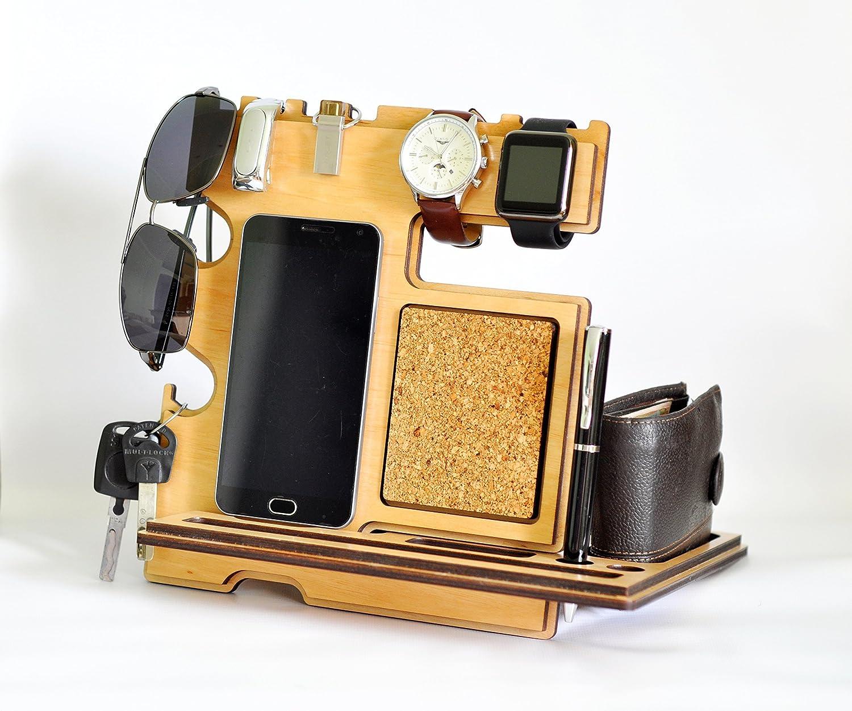 Amazon Docking Station Wood Mens Gift Birthday For Him Gifts Husband IPhone Handmade