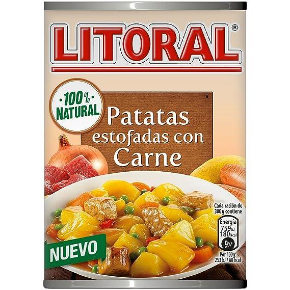 LITORAL Guiso de Patatas Estofadas con Carne - Plato Preparado Sin Gluten - 420g