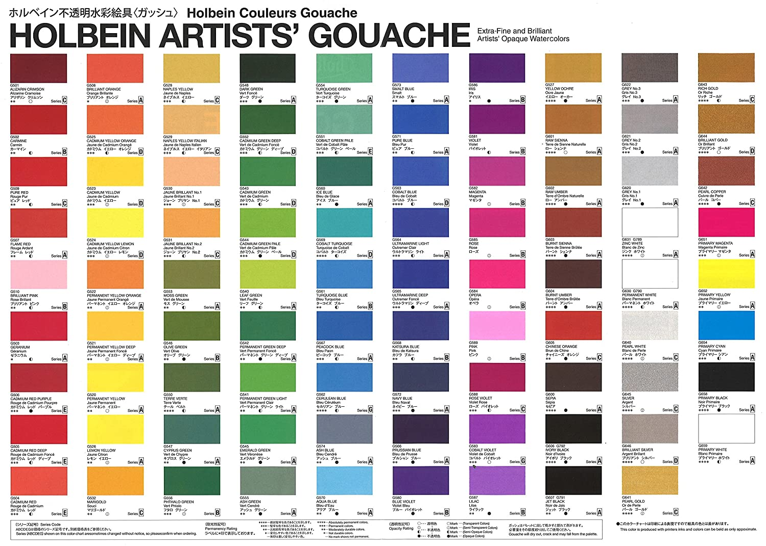 Amazon Holbein Artists Gouache Primary Mixing Set Of 5