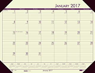 """product image for House of Doolittle 2017 Monthly Desk Pad Calendar, EcoTones, Tan Paper, 22 x 17"""" (HOD12443-17)"""