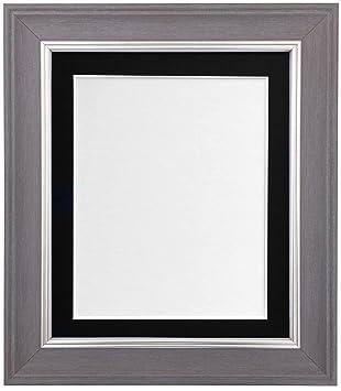 Fertig Passepartout 50 x 70 cm auf 40 x 50 cm  dunkelgrau