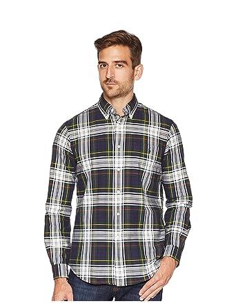 3ddf7ae70 Ralph Lauren Polo Men s Classic Fit Plaid Cotton Oxford Shirt at Amazon  Men s Clothing store