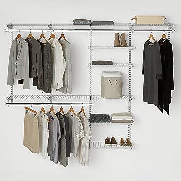Rubbermaid configurations custom closet deluxe kit white 4 8 foot fg3h8900wht amazon ca home kitchen