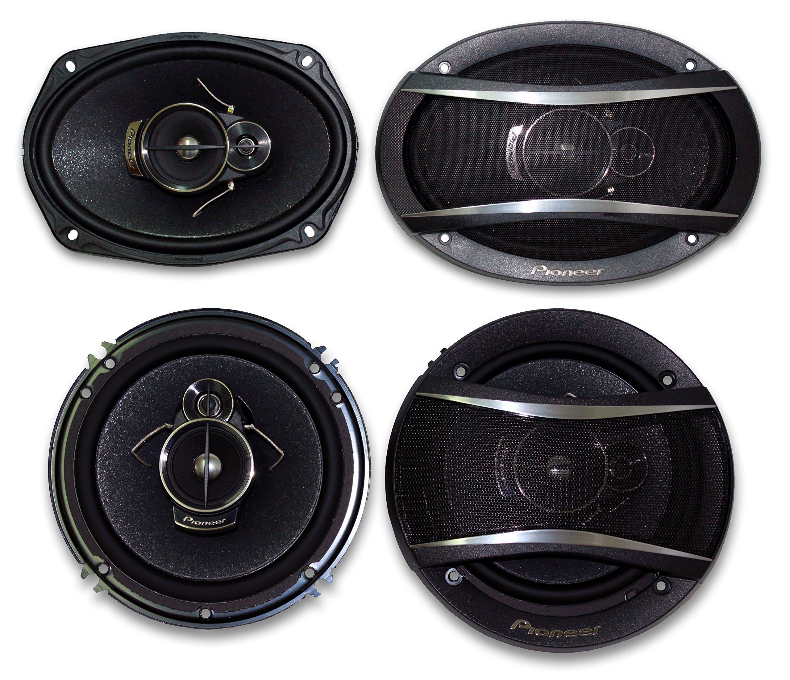 2) Pioneer TS-A1676R 6.5'' 3-Way + 2) Pioneer TS-A6966R 6X9 3-Way**PIONEER CAR SPEAKER PACKAGE