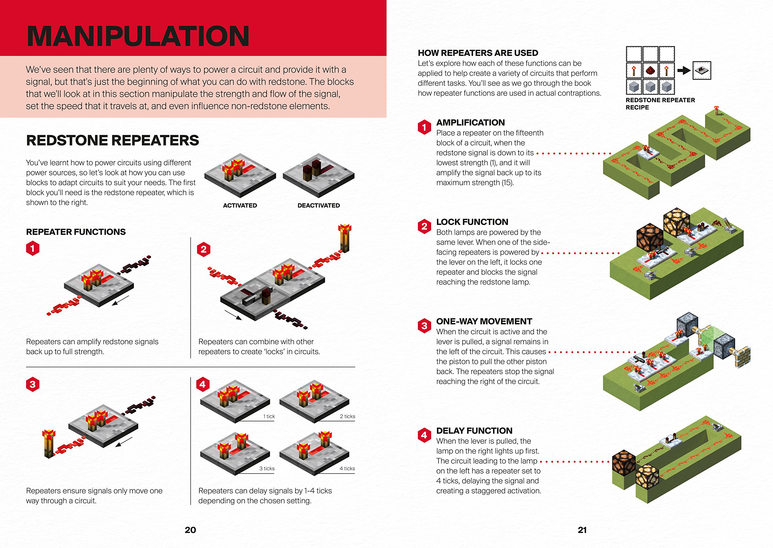 Minecraft Guide To Redstone An Official Book From Mojang Two Way Switch Ab Books
